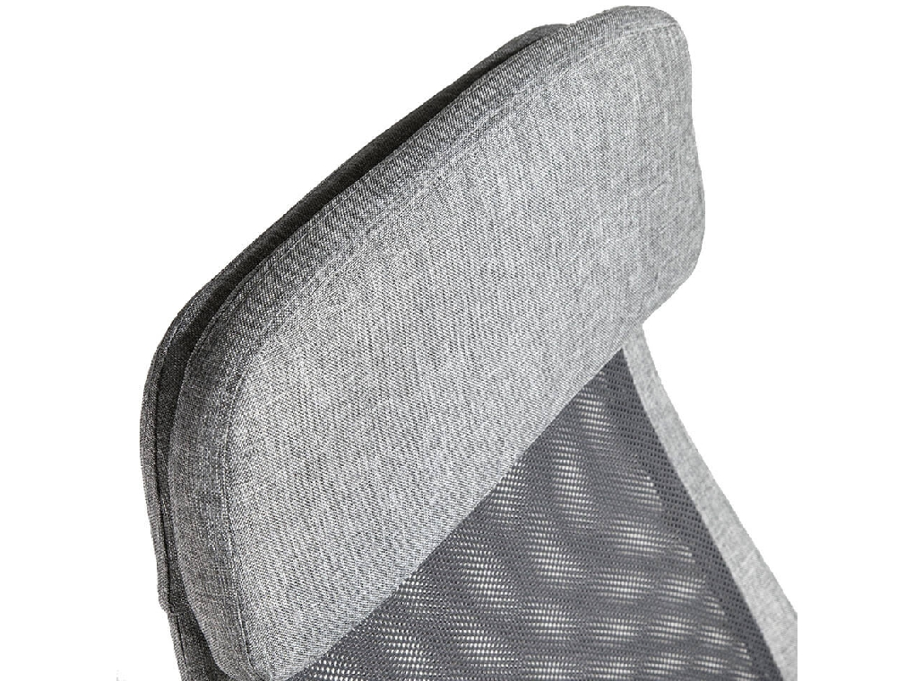 Office armchair upholstered in grey fabric