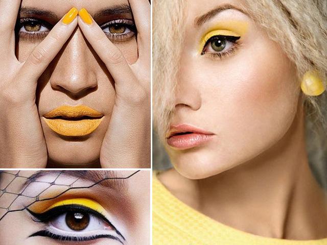maquillaje mostaza