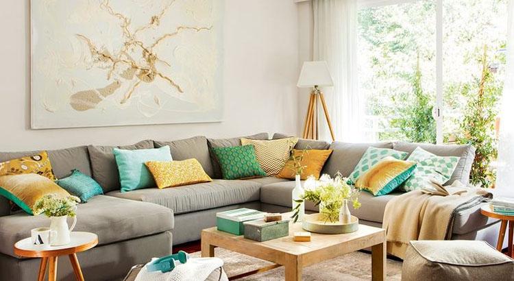 Grandes ideas para reformar tu casa magazine ngel cerd - Cojines grandes para sofa ...