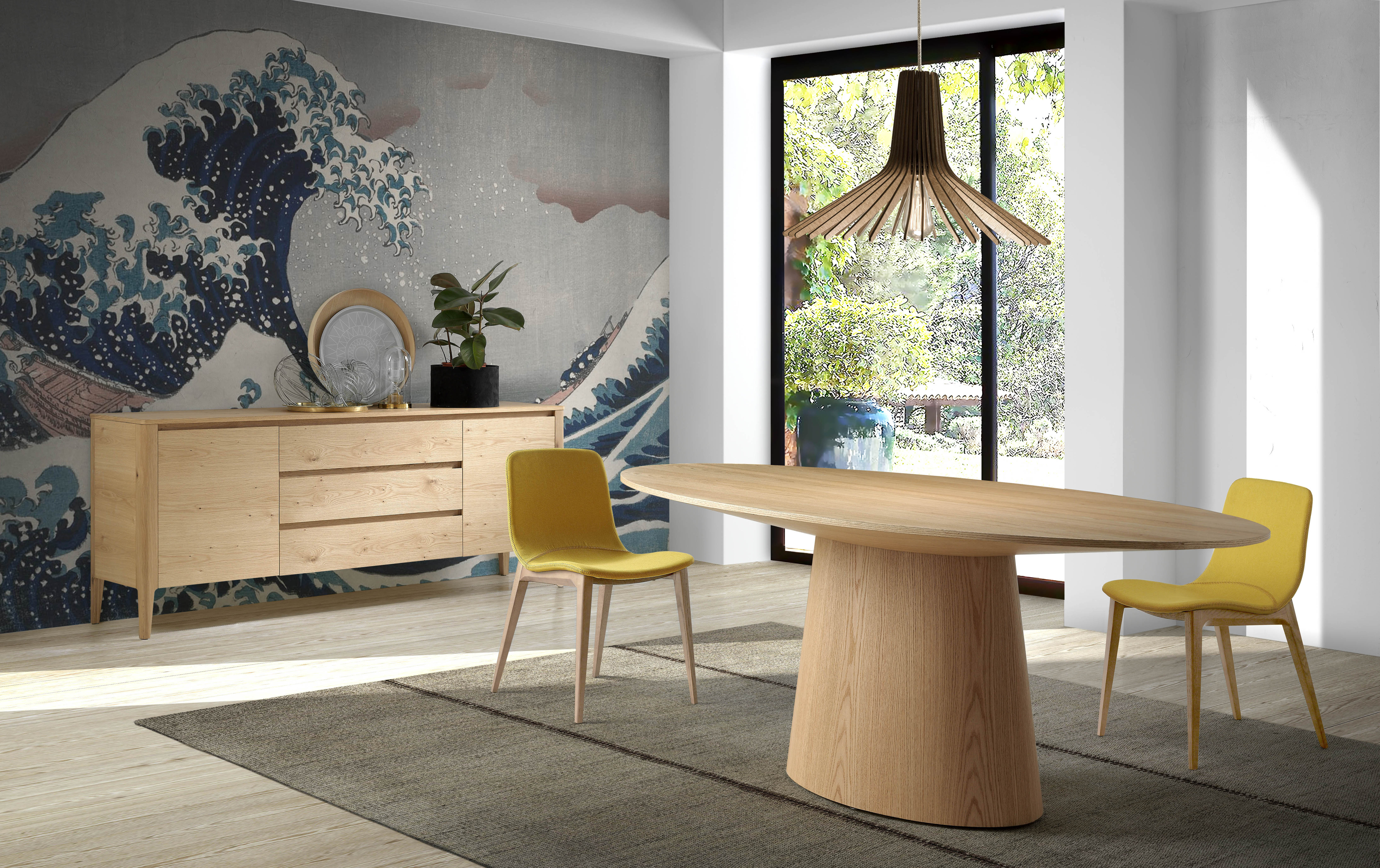 mesas de comedor de diseño italiano Angel Cerdá