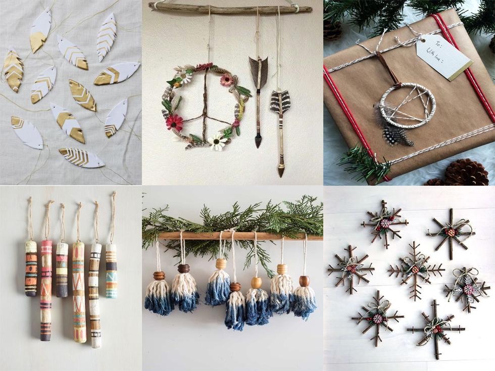 decoración de Navidad boho