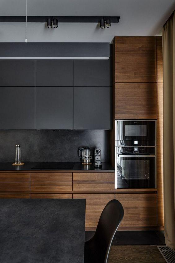 tendencias decorativas cocinas negras