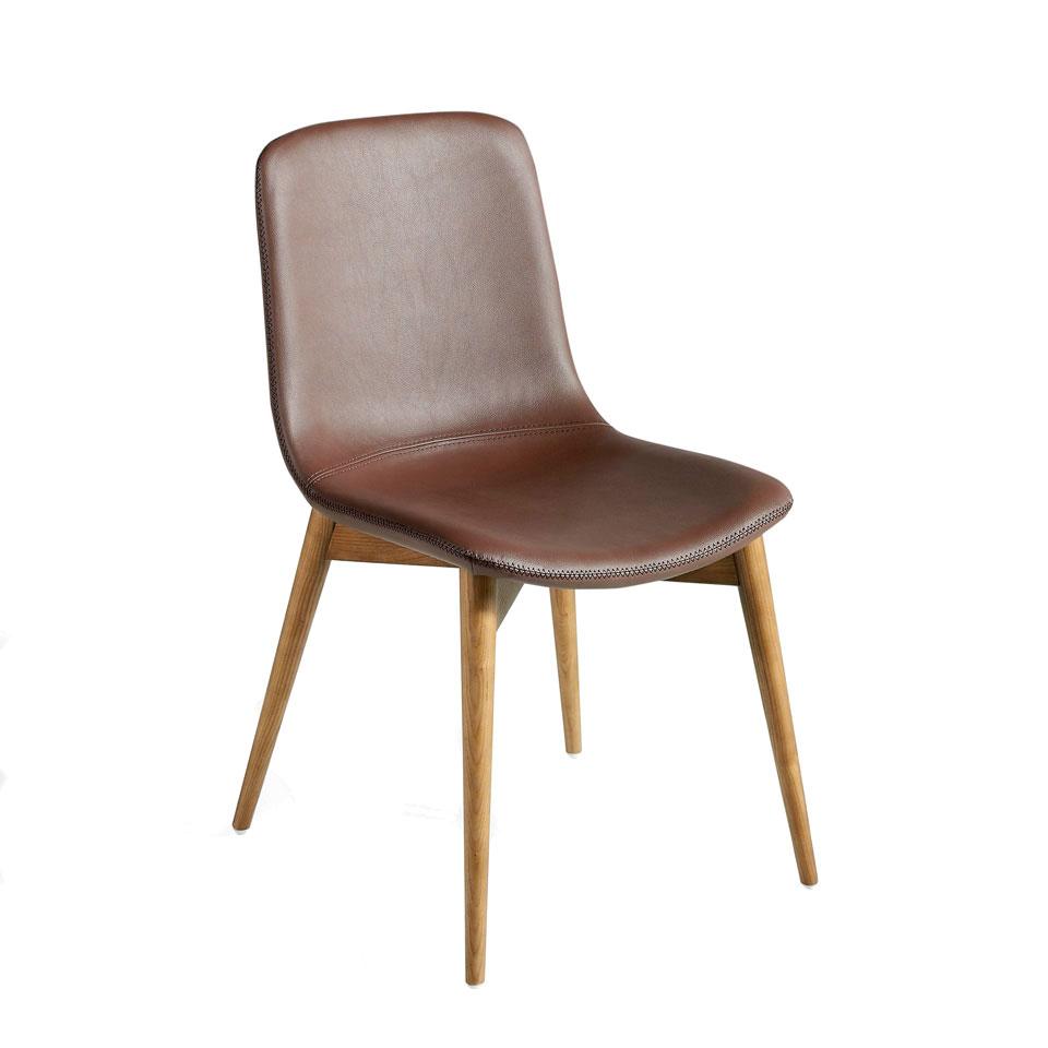 Essilla De Comedor Con Patas De Madera Maciza Color Nogalendining Room Chair With Walnut Coloured Solid Wood Legsdeesszimmerstuhl Mit Beinen